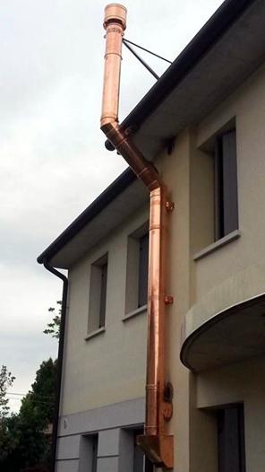 Realizzazione canna fumaria doppia parete canna fumaria for Installazione di condotte idriche in rame